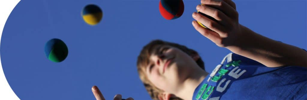 Games and Puzzles Category - Boy Juggling