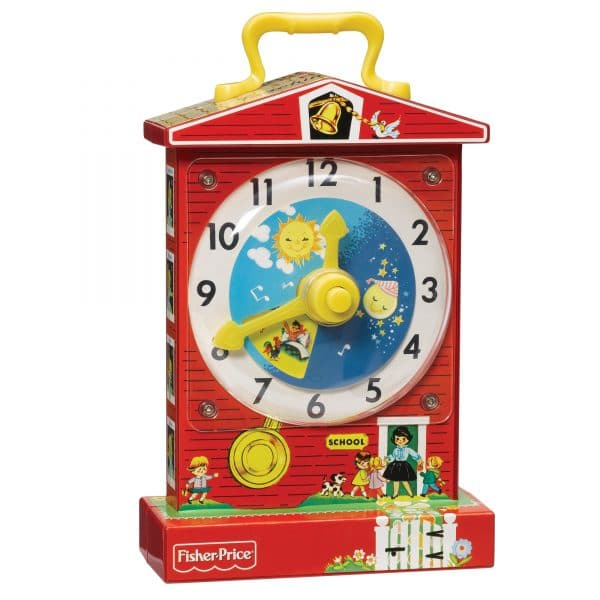 Fisher Price Music Box Teaching Clock Front Angle Right