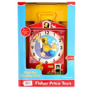 Fisher Price Music Box Teaching Clock Package Front