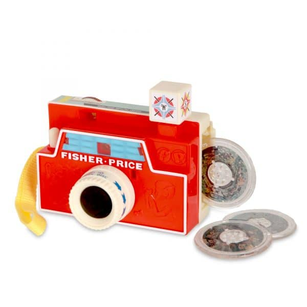 Fisher-Price Changeable Picture Disc Camera - Front with 3 disc side storage compartment