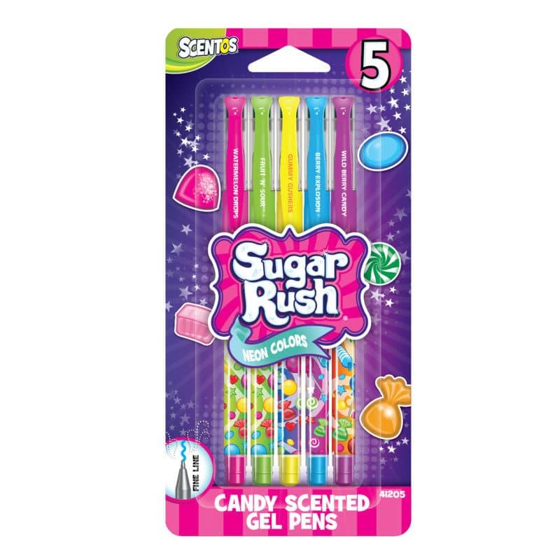 5 Pack Sugar Rush Gel Pens - Scented