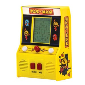 Pac-Man Retro Arcade Game Front Angle Left - On