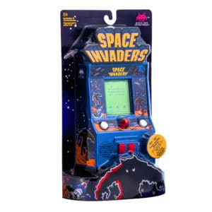 Space Invaders Retro Arcade Game Package Front Angle Right