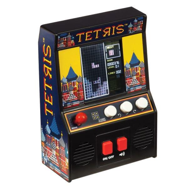 Tetris Retro Arcade Game Front Angle Right - On