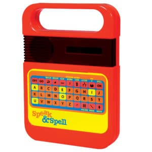Retro Style Speak And Spell Front Angle Left