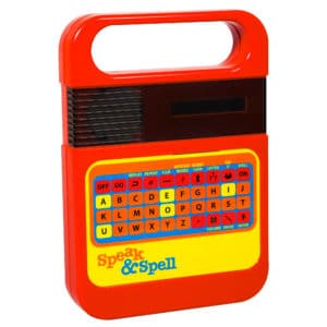 Retro Style Speak And Spell Front Angle Right