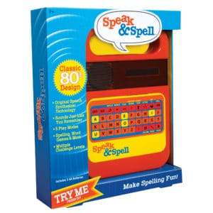 Retro Style Speak And Spell Package Front Angle Right