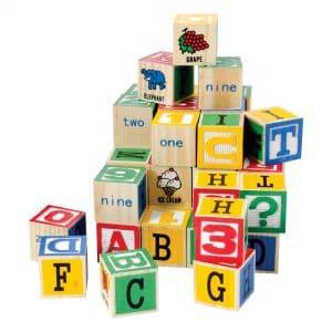 Alphabet Wood Blocks Stack