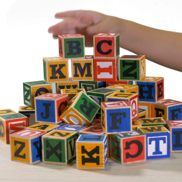 Large ABC multicolor building blocks video