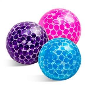 Nee Doh Bubble Glob Squeeze Balls 3 colors pink, blue, purple