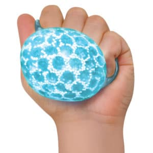 Nee Doh Bubble Glob Squeeze Ball blue in hand