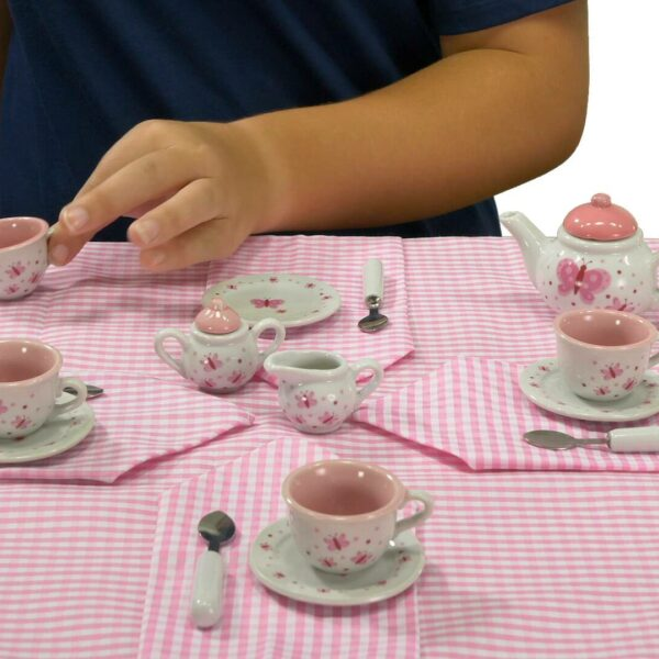 Butterfly tea set with basket video