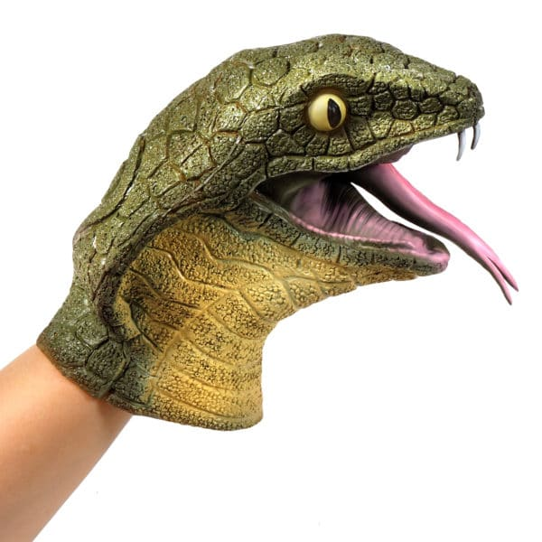 Cobra Hand Puppet on hand right