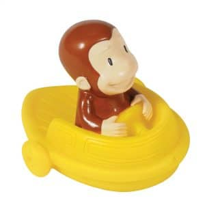 Curious George Bath Squirters - Curious George in Boat Right