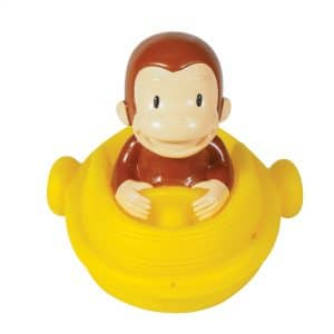 Curious George Bath Squirters - Curious George in Boat Front