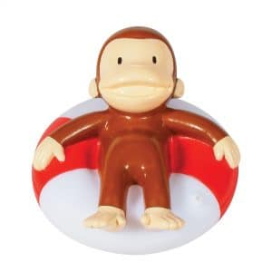 Curious George Bath Squirters - Curious George in Innertube Front