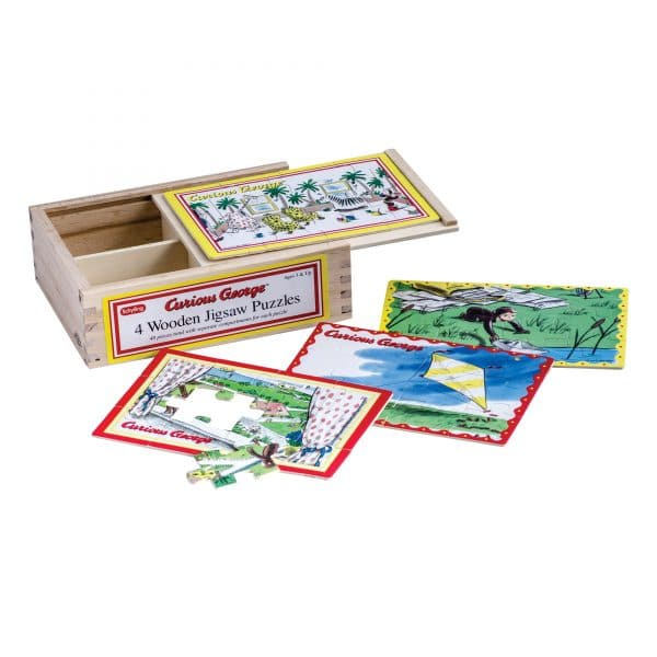 Curious George 4 in 1 jigsaw puzzles