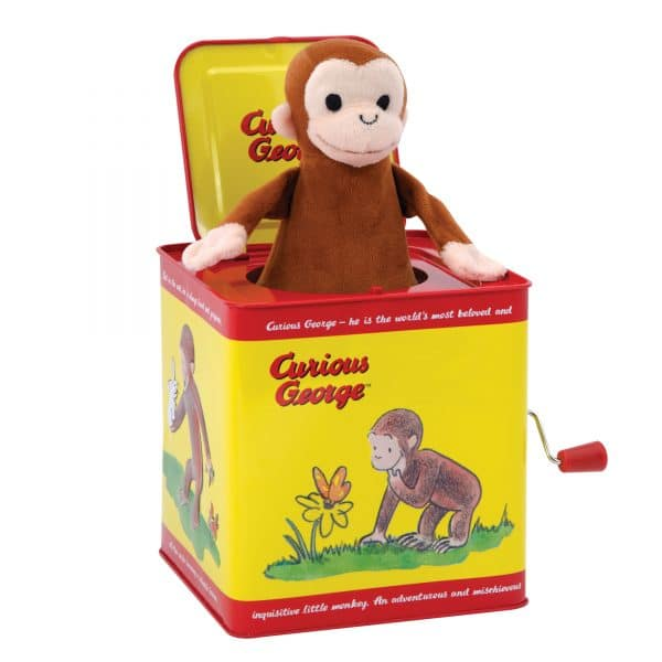 Curious George Jack in the Box - Front Angle Popped