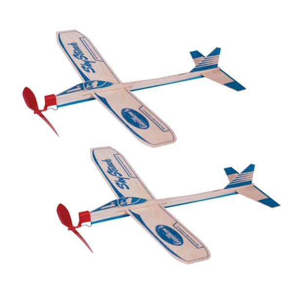Sky Streak Balsa Planes Boxed - Group, 2 planes with red propellers
