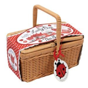 Ladybug Tea Set Basket