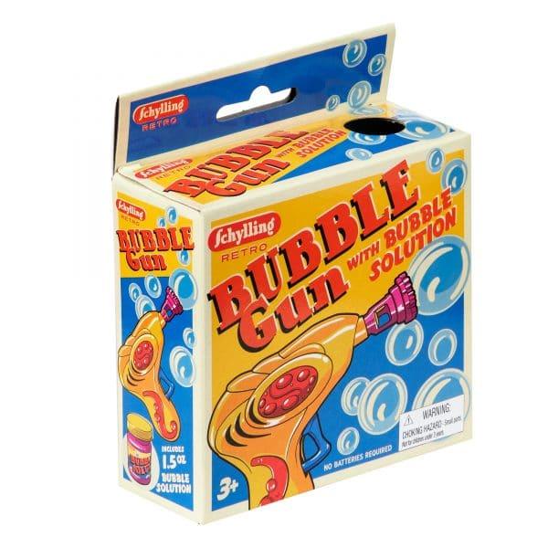 Bubble blowing gun in box Retro style