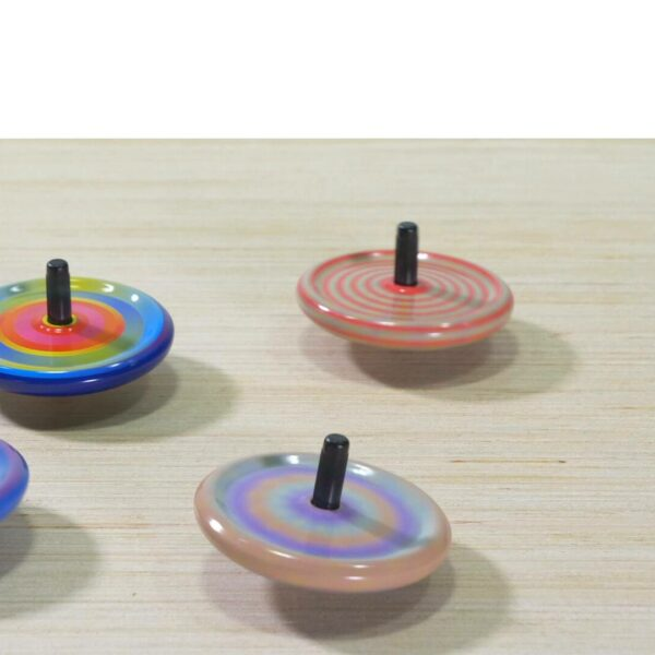 Colorful tiny tin tops video