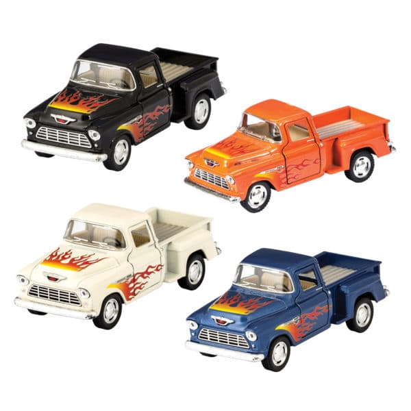 Diecast 1955 Chevy Pickup with Flames