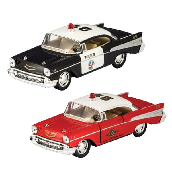 Diecast Chevy Bel Air Police and Fire
