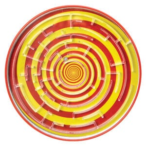 Tin BB Maze - Red and Yellow