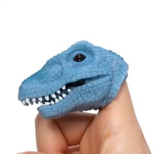 Baby Dino Snappers Finger Puppet - Blue