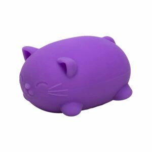 Nee Doh Cool Cats Purple Angle Squeeze Toy