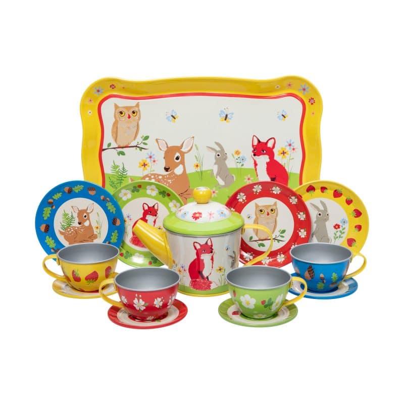 Forest Friends Tin Tea Set