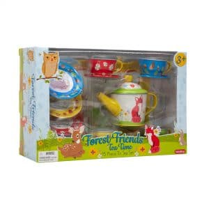 Forest Friends Tin Tea Set - Package Front Angle