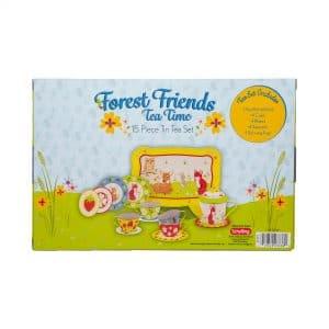 Forest Friends Tin Tea Set Package Back