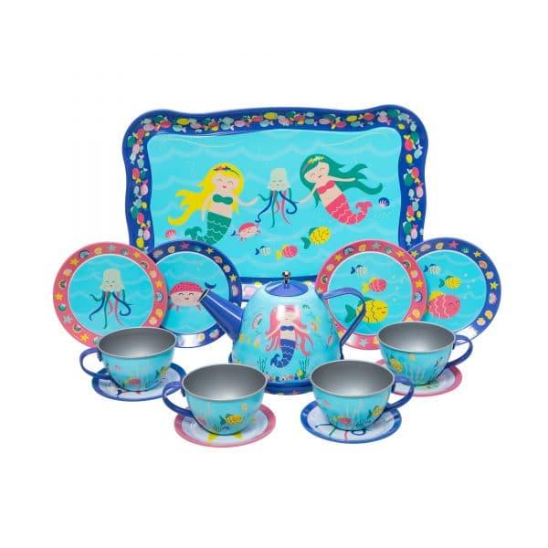 Mermaid Tin Tea Set