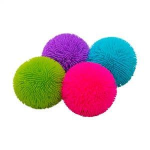 Shaggy Nee Doh Group: green, pink, purple, blue