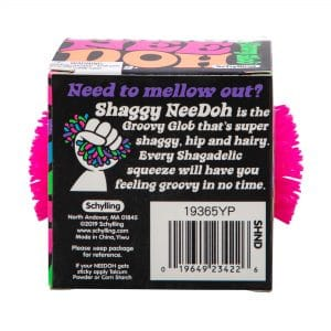 Shaggy Nee Doh Pink Package Back
