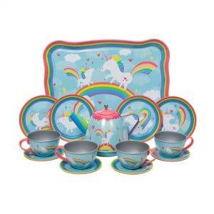 Unicorn Tin Tea Set