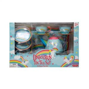 Unicorn Tin Tea Set Package Front