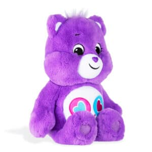 Purple ShareBear Medium Care Bear side view