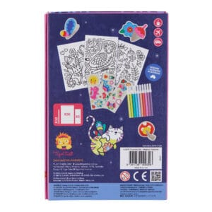 Tiger tribe coloring set magical creatures in package back view