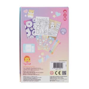 Tiger tribe coloring set kawaii café in package back view