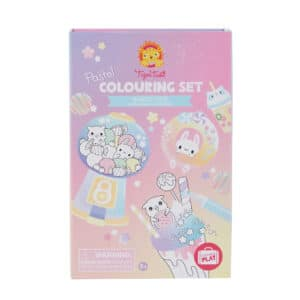 Tiger tribe coloring set kawaii café in package front view
