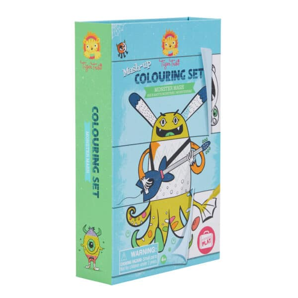 Tiger tribe how to draw coloring set monster mash in package side view