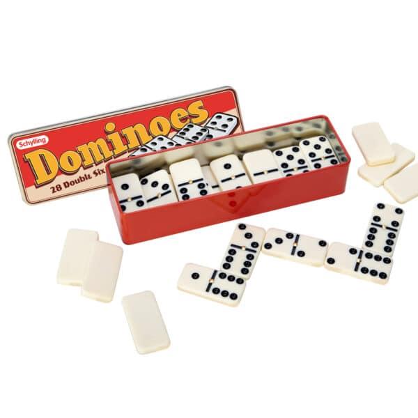 Dominoes in package top open