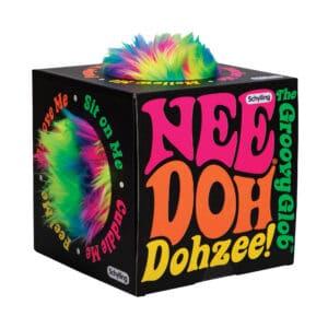 Furry Dohzee Plush rainbow pillow in box