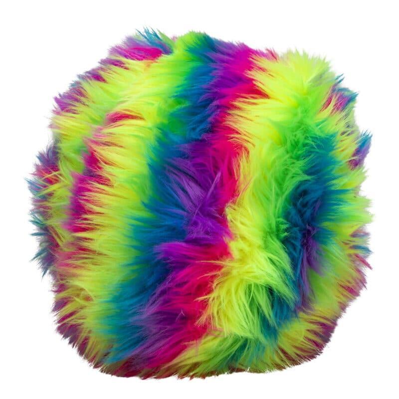 Furry Dohzee Plush rainbow pillow
