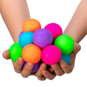 Gob of Glob mini NeeDoh stressballs in hands